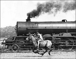 Steam Engine and Horse